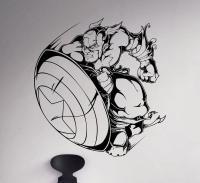 Captain America Wall Decal Marvel Comics Vinyl Sticker
