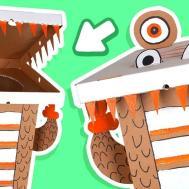 Cardboard Dinosaur Dustbin Crafts Ideas Boxes Diy