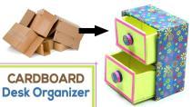 Cat Make Diy Desk Organizer Waste Cardboard