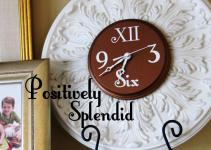 Ceiling Medallion Wall Clock Tutorial Positively