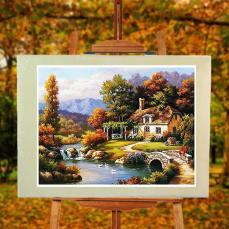 Celestial Residence Frameless Diy Oil Painting Numbers