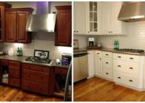 Chalk Paint Kitchen Cabinets Before After Using
