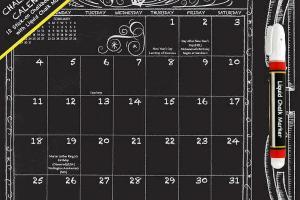 Chalkboard 2015 Wall Calendar Modern
