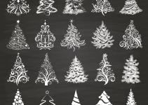 Chalkboard Christmas Tree Clipart Xmas Trees Hippoartland
