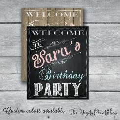 Chalkboard Kid Printable Diy Blank Birthday