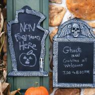 Chalkboard Tombstone Hanging Wall Party Supply