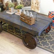 Challenge Yourself Make Your Own Factory Cart Coffee Table