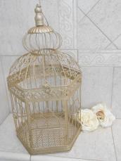 Champagne Gold Wedding Birdcage Card Holder Diy