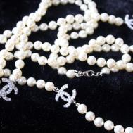 Chanel Pearl Necklace Logo Replica Caymancode