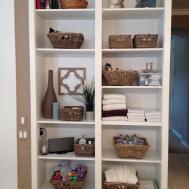 Charming Storage Shelves Rattan Baskets Organize