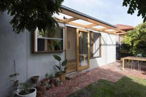 Cheerful Rear Addition Melbourne Home White Timber