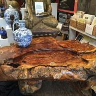 China Fine Splendid Example Chinese Burlwood Wood