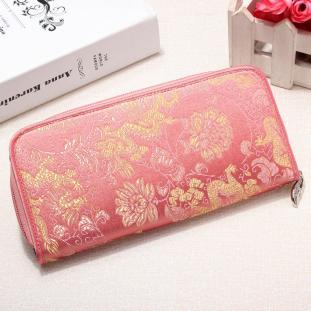 Chinese Handmade Vintage Silk Wallet Purse Card Holder