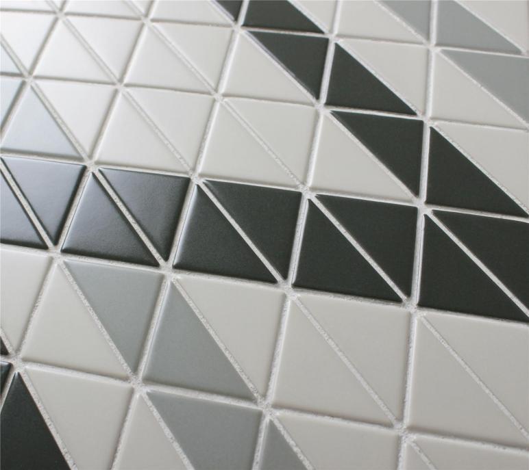 Chino Hill Ribbon Triangle Mosaic Geometric Wall Tiles