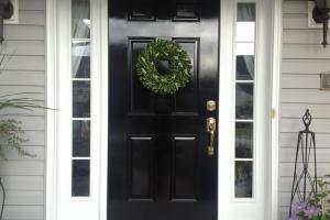Chinoiserie Chic Front Door Glossy Black