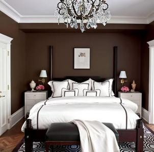 Chocolate Brown White Awesome Bedroom