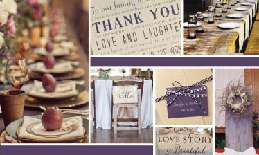 Choice Inspiration Board Wedding Rustic