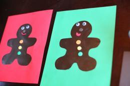Christmas Craft Kids Scented Gingerbread Man Art