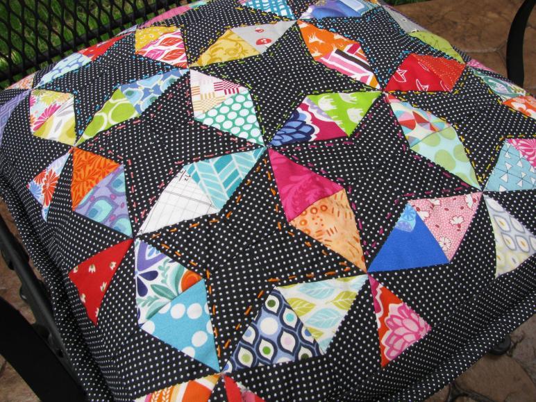 Christmas July Kaleidoscope Pillow 627handworks