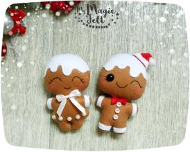 Christmas Ornaments Felt Gingerbread Man