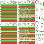 Christmas Printables Countdown Bucket List