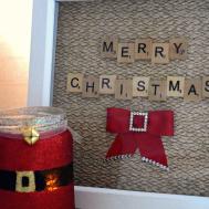 Christmas Scrabble Art Diy Gift Idea Evija Love