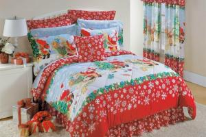 Christmas Sheets Curtains Myideasbedroom