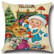 Christmas Themed Bambi Thumper Cushion Cover Case Xmas