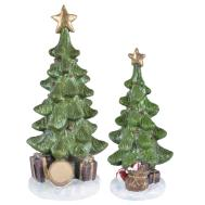 Christmas Tree Sparkling Resin Figurine Decoration Snow