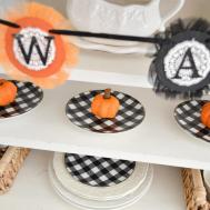 Classic Black Orange Halloween Decorating Fox Hollow