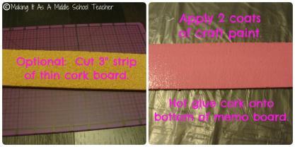 Classroom Diy Magnetic Memo Board