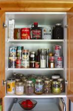 Clear Glass Bottle Pantry Storage Containers Using Gold