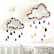 Cloud Wall Decor Nursery Kids Room Stefcollections