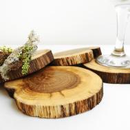 Coasters Rustic Oak Wood