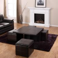 Coffee Table Appealing Black Ottoman Designs