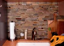 Color Forte Colorful Slate Tile Backsplash Kitchen