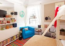 Colorful Kids Bedroom Candy Store Theme