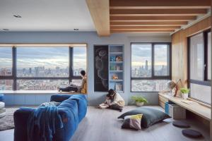 Colorful Modern Apartment Family Small Children