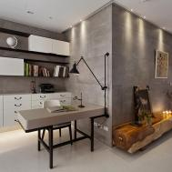 Concrete Walls Modern Office Interior Design Ideas