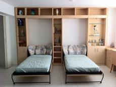 Contemporary Bed Room Horizontal Twin Murphy