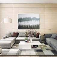 Contemporary Living Room Interior Designs Warm