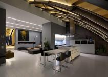 Contemporary Penthouse Kiev Exhibits Original Arch