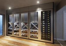 Contemporary Wine Cellar Display Modern Design