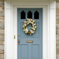 Cool Blue Front Doors Residential Homes