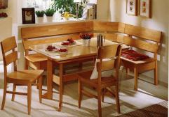 Corner Bench Kitchen Breakfast Nook Booth Dining Set