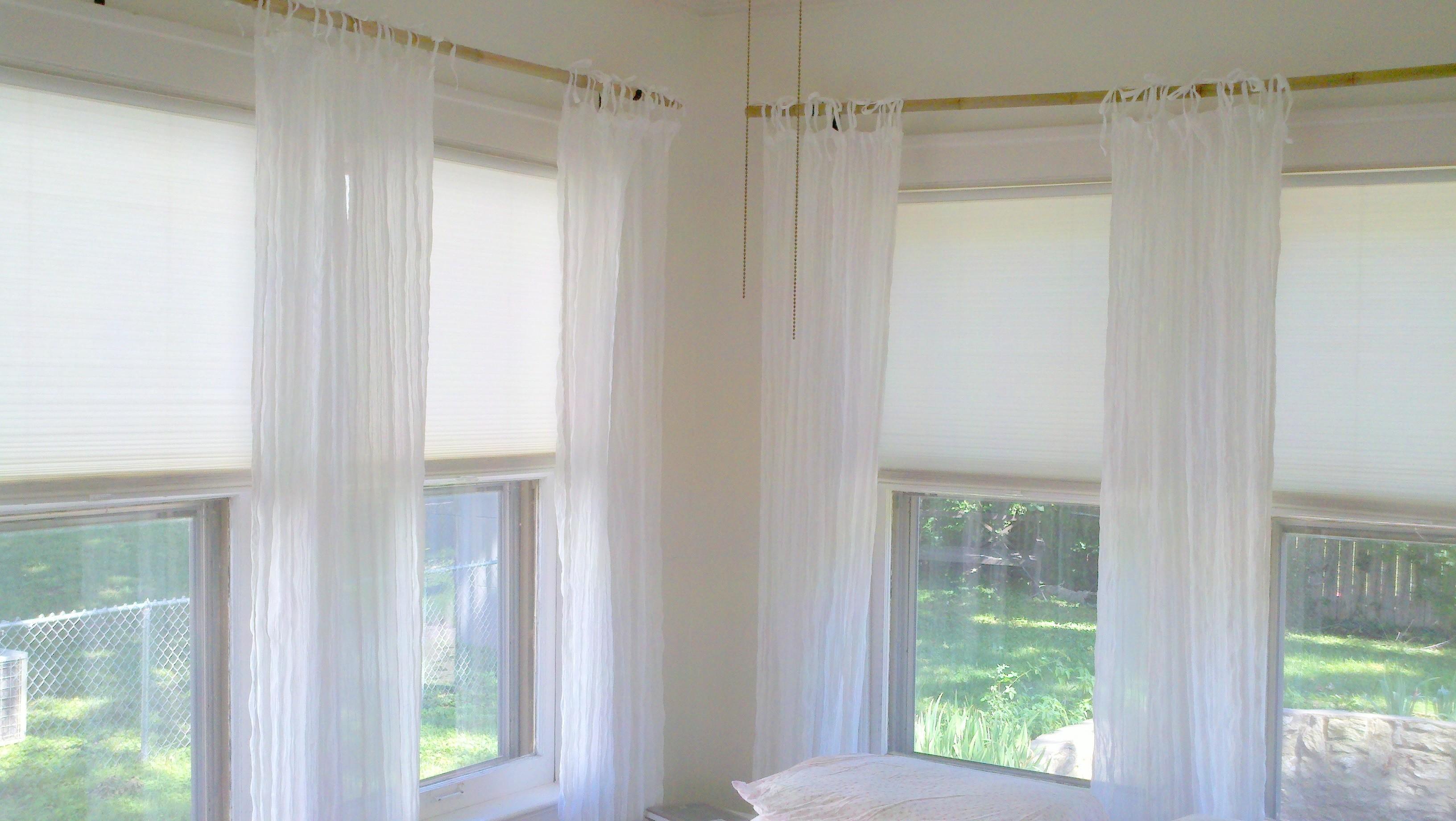 corner curtain rod curtains rods