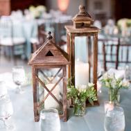 Cornflower Blue Tables Lantern Centerpieces