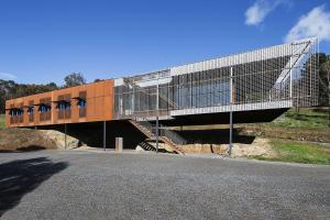 Corten Cladding Bushland Views Mesmerize Macedon