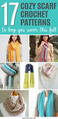 Cozy Scarf Crochet Patterns Keep Warm Fall