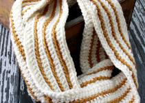 Cozy Striped Crochet Infinity Scarf
